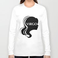 virgo Long Sleeve T-shirts featuring Virgo by M. C.Tees