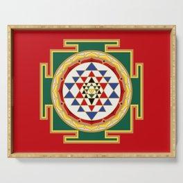 Sri Yantra colored Serving Tray