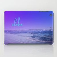 aloha iPad Cases featuring Aloha by Leah Flores