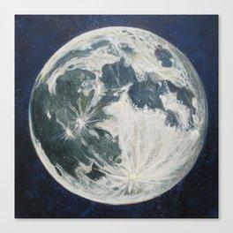 Moon Portrait 3 Canvas Print