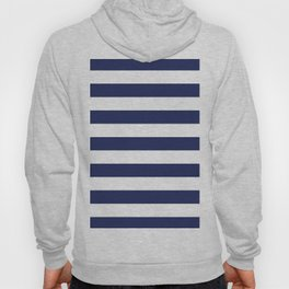 Navy Blue and White Stripes Hoody