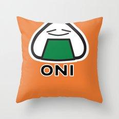 Oni the Onigiri, Kawaii Throw Pillow