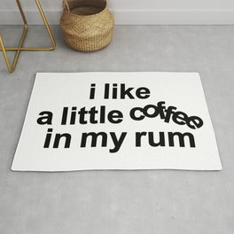 Coffee Rum Quote Rug