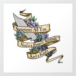 Positive Attitude Art Print