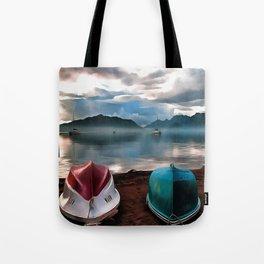 Hulls of Boats And Marmaris Winter Seascape Tote Bag