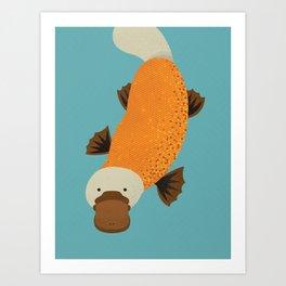 Whimsy Platypus Art Print