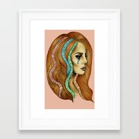 ultraviolence Framed Art Prints featuring Ultraviolence by Christina Dedic