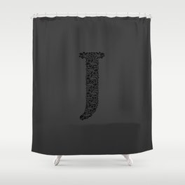 Floral Letter J Shower Curtain