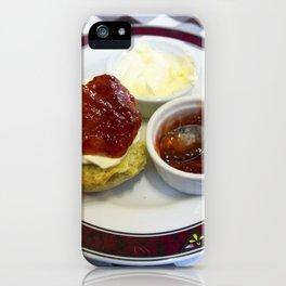 Cream tea for one iPhone Case