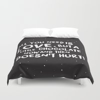chocolate Duvet Covers featuring Chocolate by Irene Florentina