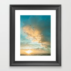 Life Begins Design Framed Art Print