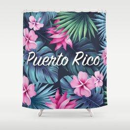 Puerto Rico Floral Composition Shower Curtain