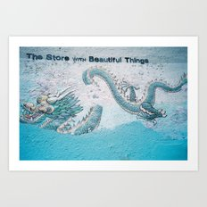 The Store with Beautiful Things - Dragon Memories Art Print