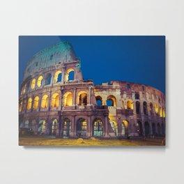 Coliseum at Night Metal Print
