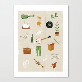 Music & Things Canvas Print