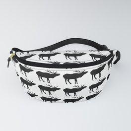 Graphic Swedish Black & White Elk Multiples Fanny Pack