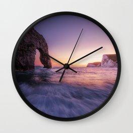 Durdle Door Sunset Wall Clock