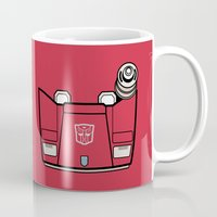transformers Mugs featuring Transformers - Sideswipe by CaptainLaserBeam