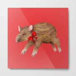 Tapir Red Metal Print