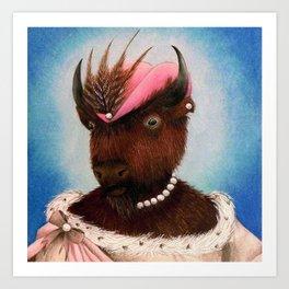 Lady Bison Art Print