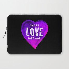 Share Love Not War Laptop Sleeve