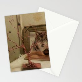 Rustic Wire Tree Sculpture Stationery Cards