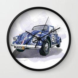 Blue old Car Wall Clock