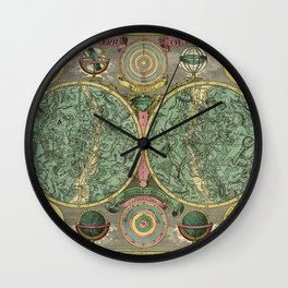 Vintage Astronomy Chart 1772 Wall Clock