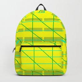 grid check layer_lemon, lime Backpack