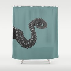 OCTOPUS - tentacle , arm , animal , single , one , spiral Shower Curtain