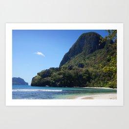 The Private Beach Art Print
