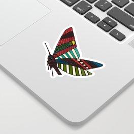 summer butterflies multi sky Sticker