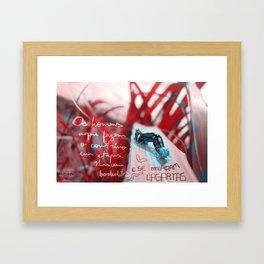 Contrário em etapas Framed Art Print