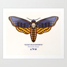 Death's Head Hawkmoth Art Print