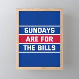 Sundays Are for the bills Framed Mini Art Print
