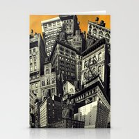 cityscape Stationery Cards featuring Cityscape by Chris Lord