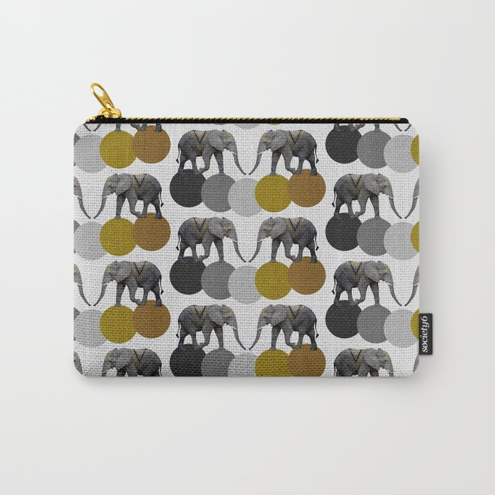 Tribal Elephants Carry-All Pouch