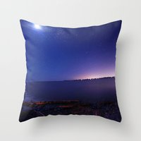 starry night Throw Pillows featuring Starry Starry Night by Anthony Leo Photography