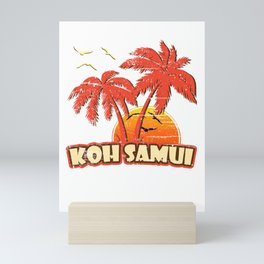 Koh Samui Vintage Sunset Mini Art Print