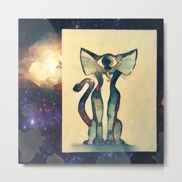 Cosmic Kitty Metal Print