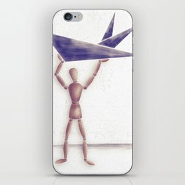 Man With Triangles  iPhone Skin