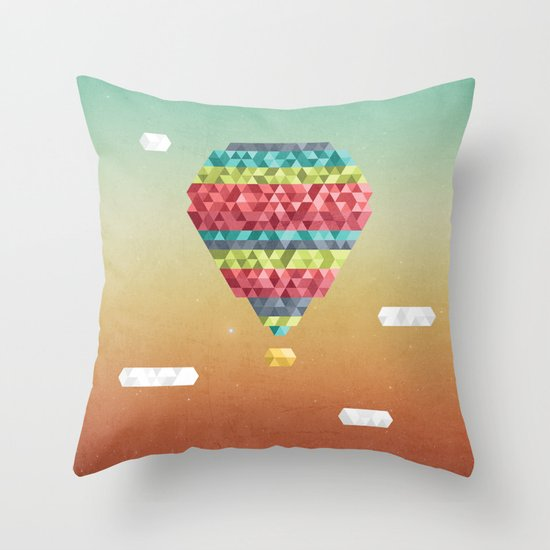 Triangular Skies Throw Pillow