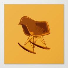 Rocker Chair Orange Canvas Print