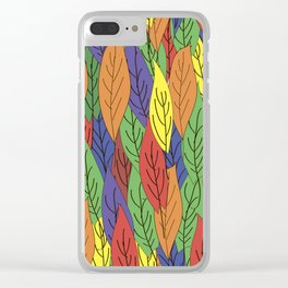 Colorful leaves. Clear iPhone Case