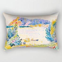 Henri-Edmond Cross Neo-Impressionism Pointillism Cap Nègre 1909 WatercolorPainting Rectangular Pillow