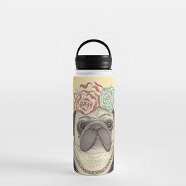 Frida Pug Kahlo Water Bottle