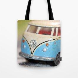 Vintage Minibus-Color Tote Bag