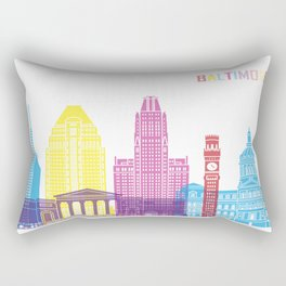 Baltimore skyline pop Rectangular Pillow