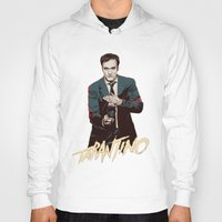 quentin tarantino Hoodies featuring Quentin by CromMorc