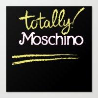 moschino Canvas Prints featuring Totally Moschino Black by RickyRicardo787
